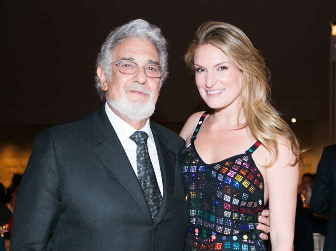 Arts patron Sarah Arison and opera great, Placido Domingo
