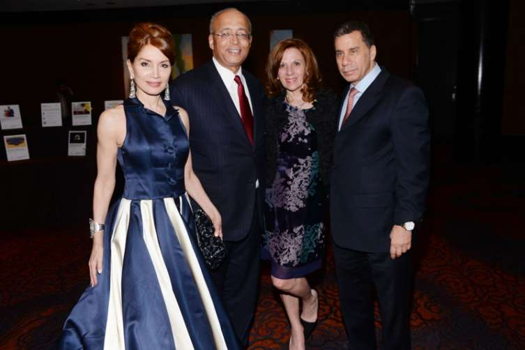 Jean Shafiroff, Bill Thompson, Michelle Paige Paterson, David Paterson at the New York Mission Society Gala held at the Mandarin Oriental All photos: Photo - Clint Spaulding/PMC ==