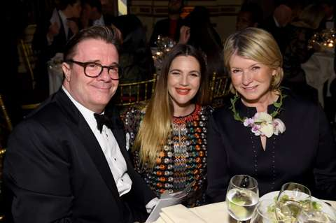 Barrymore with Nathan Lane and Martha Stewart