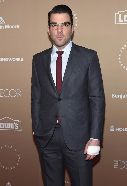 Honoree Zachary Quinto at the Housing Works Groundbreaker Awards Dinner