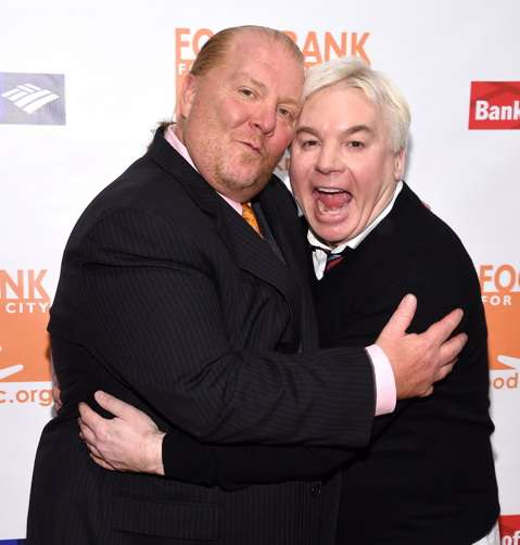 Mario Batali and Actor Mike Myers