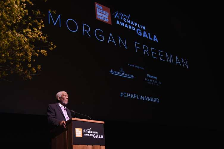 Morgan Freeman receives the 43rd Chaplin Award from the Film Society of Lincoln Center.