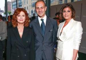 Susan Sarandon, (wearing Max Mara), Luigi Maramotti, Maria Giulia Maramotti