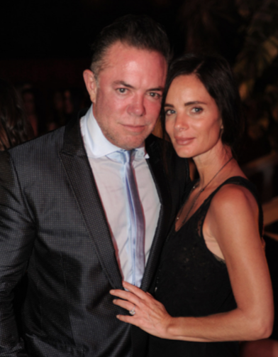 Shareef Malnik and gabrielle anwar
