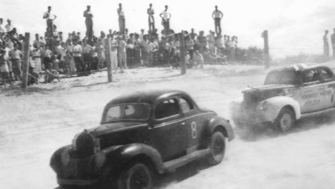 Feb. 15, 1948: Two months after NASCAR's historical meeting held by Bill France Sr., the first sanctioned NASCAR race was held on Daytona's beach course, won by Red Byron in his Ford Modified.