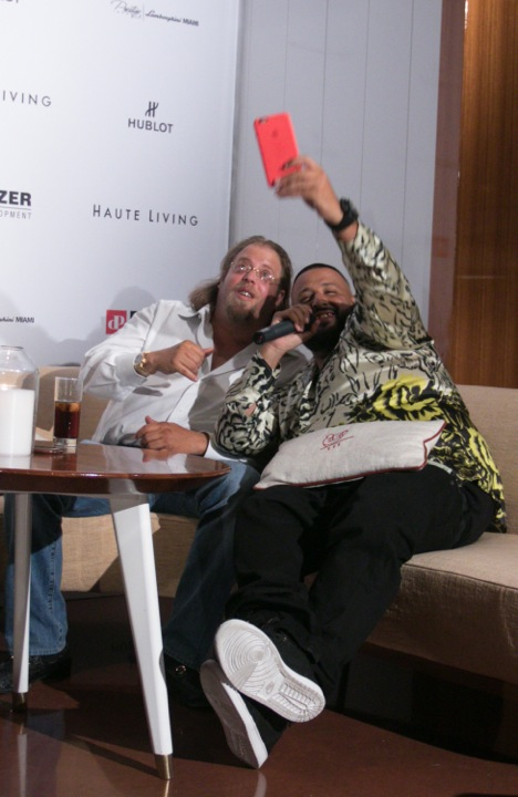 Gil Dezer and DJ Khaled on Snapchat