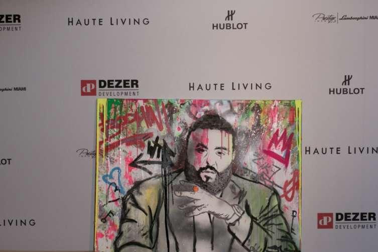 Skott Marsi custom DJ Khaled painting