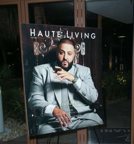 DJ Khaled Haute Living Cover