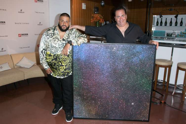 DJ Khaled and Joey Goldman with custom painting
