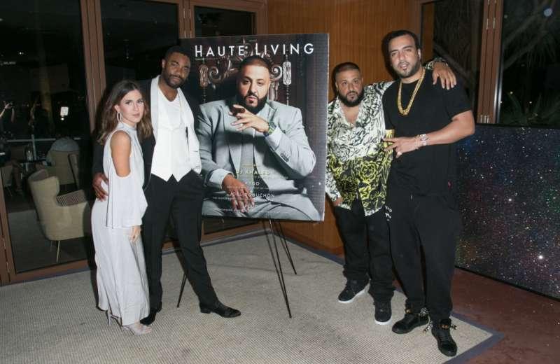 Amber Ridinger, Duane Ridinger, DJ Khaled and French Montana