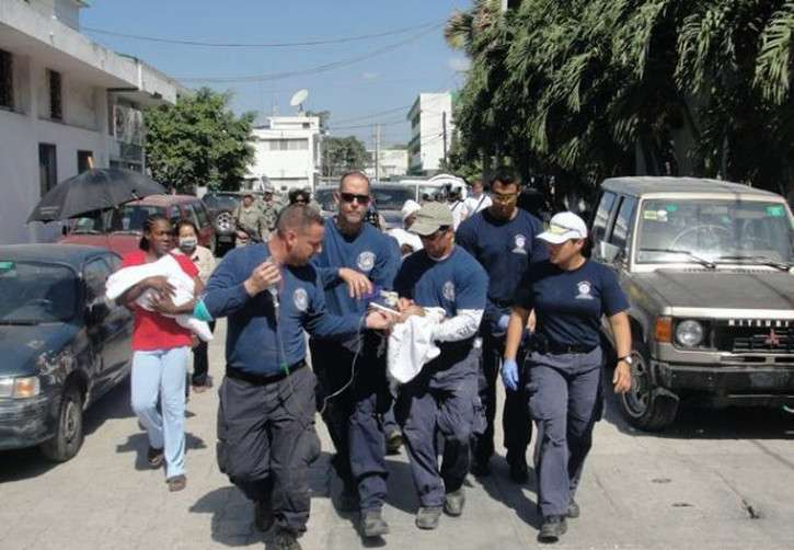 Firefighters in Haiti 2010