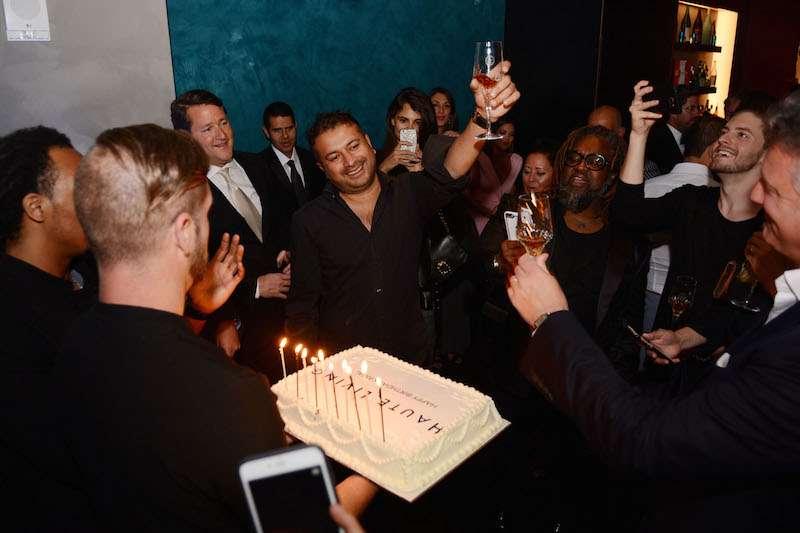 Kamal Hotchandani gives birthday toast with Louis XIII