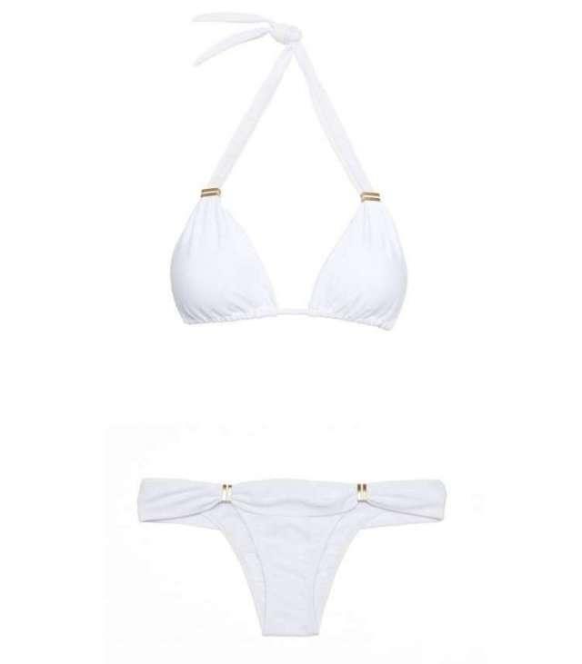 Vix solid white Bia tube bikini