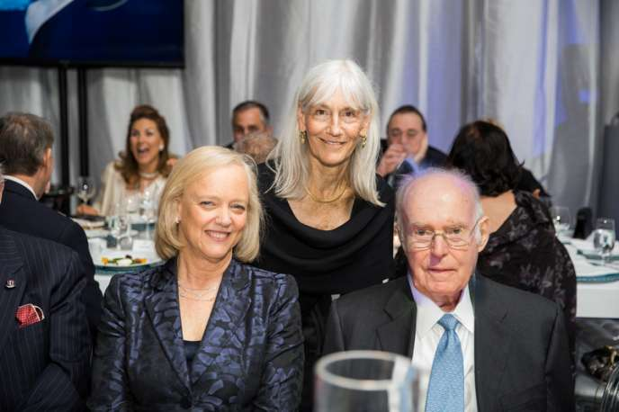 Meg Whitman (HPE), Julie Packard (Monterey Bay Aquarium), Gordon Moore (Intel)