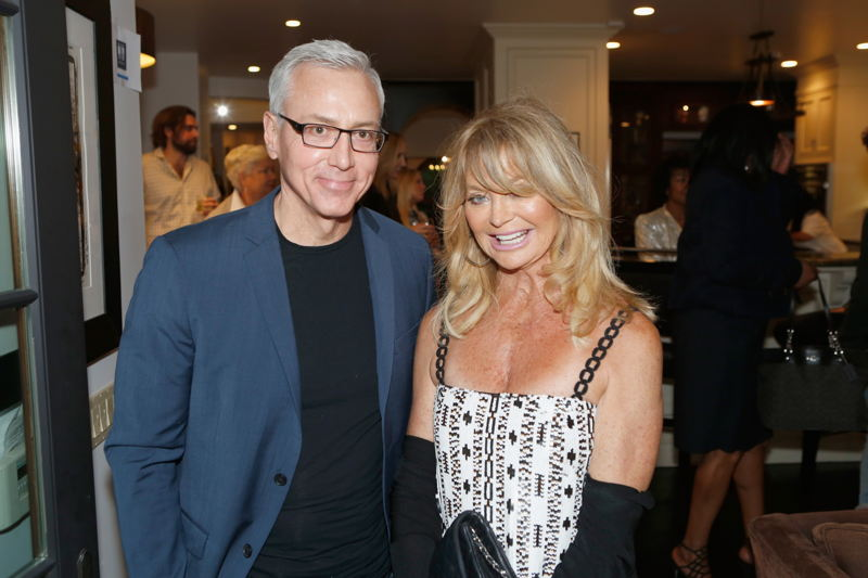 Dr. Drew Pinsky and honoree Goldie Hawn attend Russell Simmons' Rush Philanthropic Arts Foundation's inaugural Art For Life Los Angeles