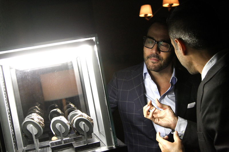 Managing Director - Hublot North America Jean-Francois Sberro discusses Hublot watches with Jeremy Piven