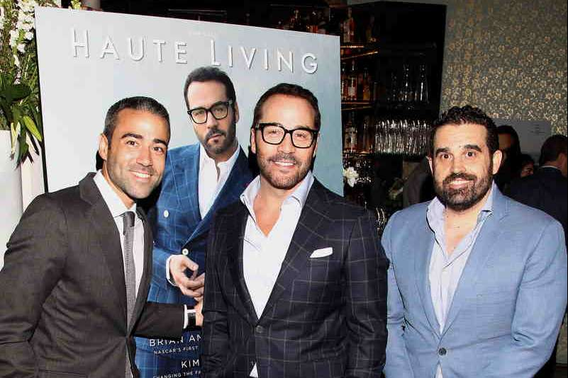 Managing Director - Hublot North America Jean-Francois Sberro, actor Jeremy Piven and Co-Founder of Haute Media Group Seth Semilof