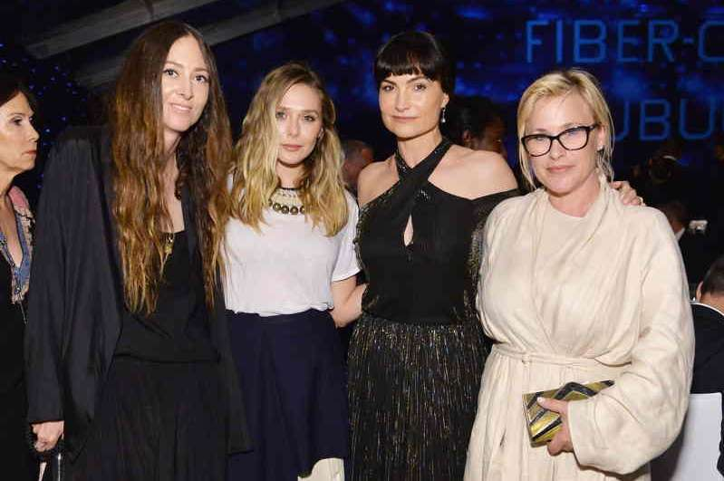 Maggie Kayne, actress Elizabeth Olsen, Rosetta Getty and actress Patricia Arquette