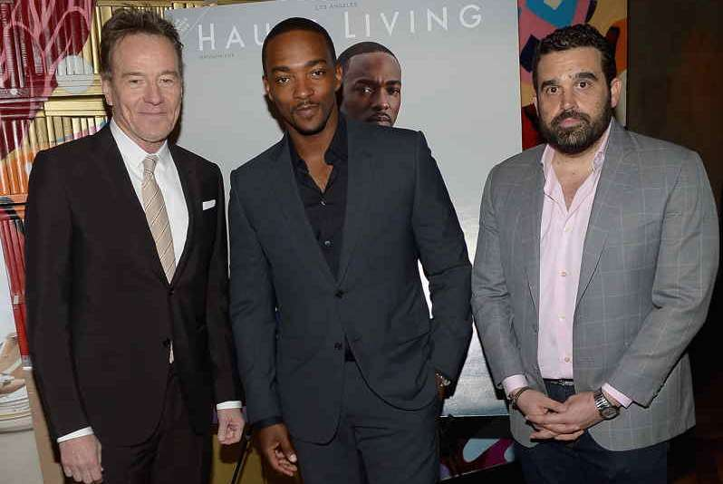 Bryan Cranston, Anthony Mackie and Co-Founder of Haute Media Group Seth Semilof