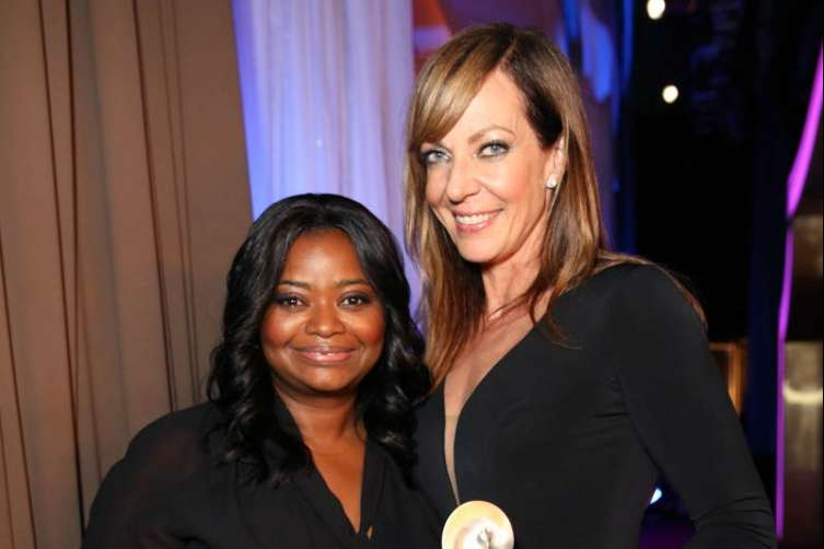 Octavia Spencer (L) and Honoree Allison Janney