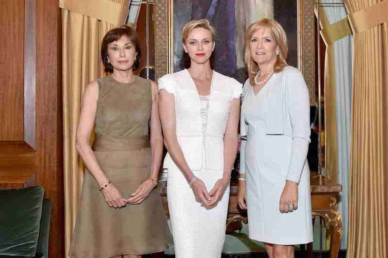 Ambassador Maguy Maccario Doyle, Her Serene Highness Princess Charlene of Monaco and President of The Blue Ribbon, Julie Goldsmith