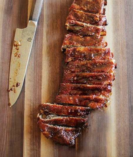 Ribs, from Curry's upcoming cookbook.