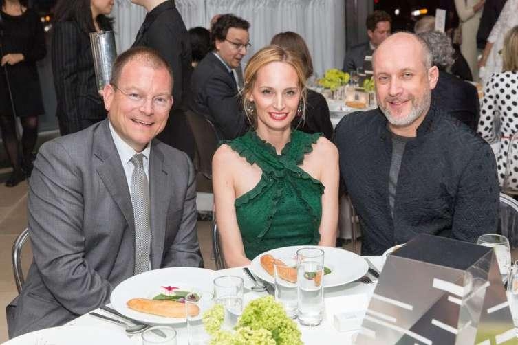 Alex Bolen, Lauren Santo Domingo and Peter Copping photo by Benjamin Lozovsky