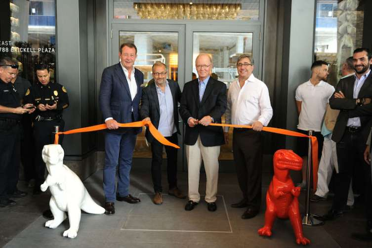 Brian Williams, Laurent Fraticelli, Stephen Owens, & Chris Gandolfo cut the ribbon