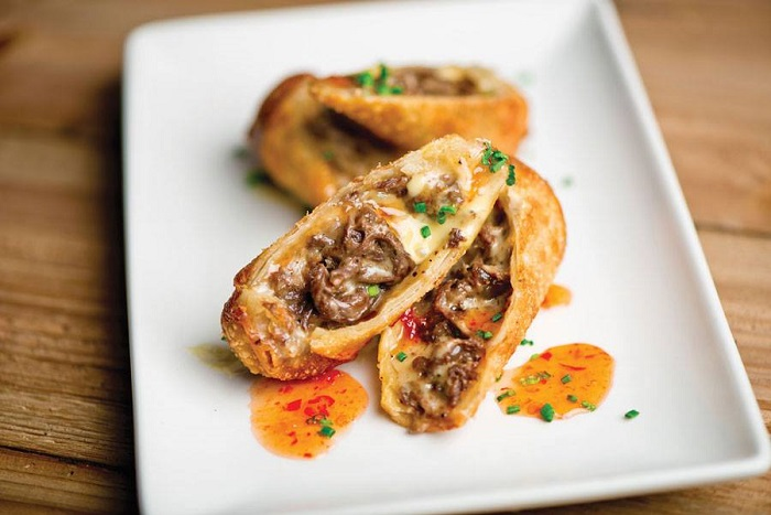 Del Frisco's Grille Cheesesteak Eggrolls