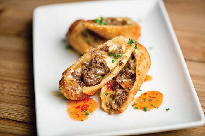 Del Frisco's Grille Cheesesteak Eggrolls