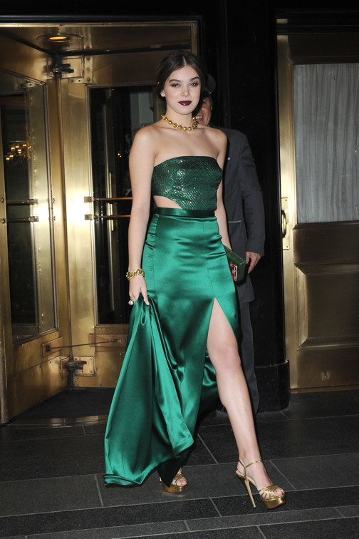 Hailee Steinfeld leaving the Carlyle on the way to the Met gala. Photo by: Michael Simon/startraksphoto.com -MS317064 Editorial - Rights Managed Image - Please contact www.startraksphoto.com for licensing fee Startraks Photo Startraks Photo New York, NY For licensing please call 212-414-9464 or email sales@startraksphoto.com Image may not be published in any way that is or might be deemed defamatory, libelous, pornographic, or obscene. Please consult our sales department for any clarification or question you may have Startraks Photo reserves the right to pursue unauthorized users of this image. If you violate our intellectual property you may be liable for actual damages, loss of income, and profits you derive from the use of this image, and where appropriate, the cost of collection and/or statutory damages.