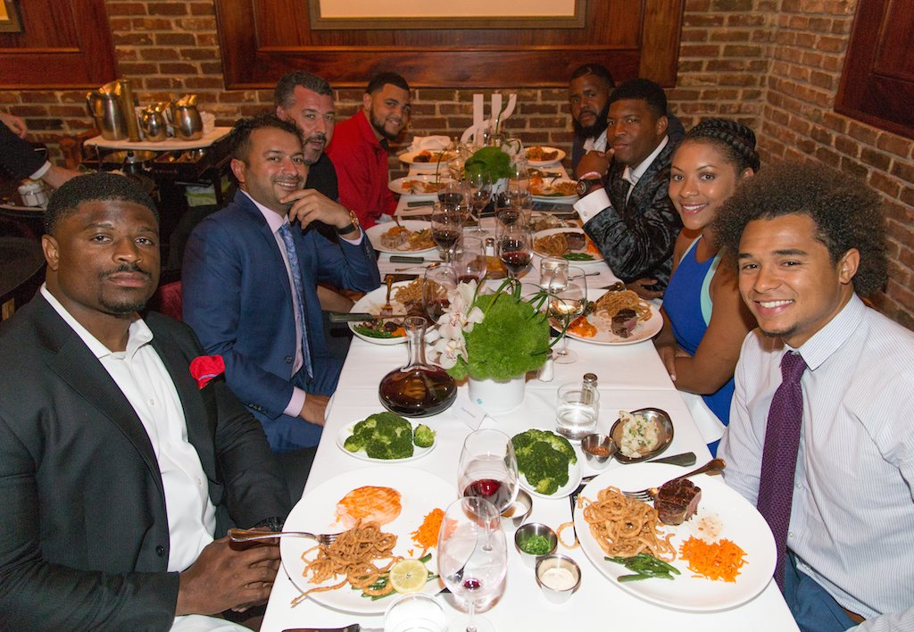 Kamal Hotchandani, Rick De La Croix, Mike Evans, Jameis Winston at Bern's Steak House