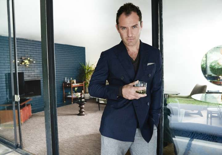 Jude Law likes his Scotch neat.