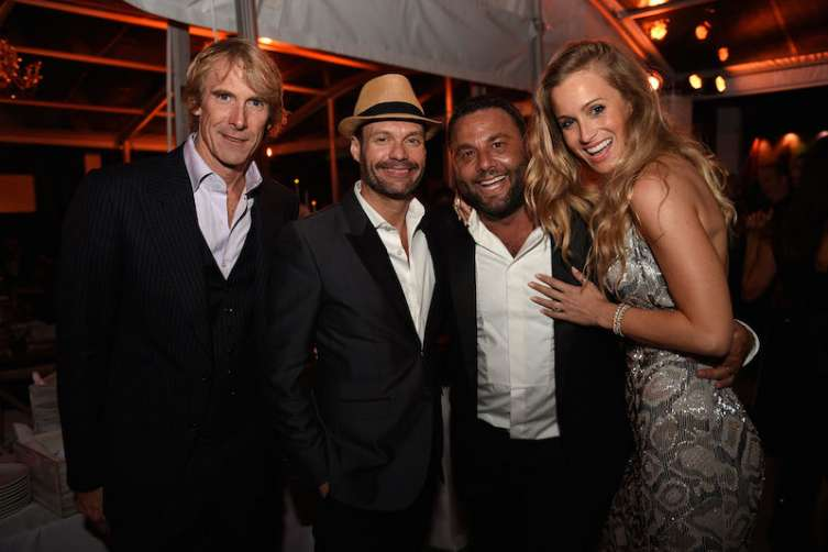 Michael Bay, Ryan Seacrest, David Grutman & Michele Merkin
