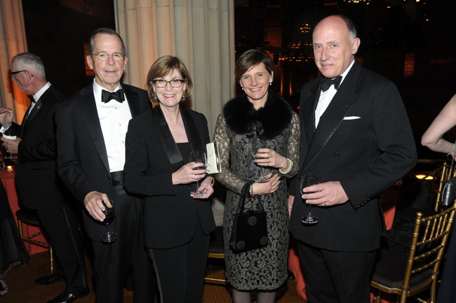 Michael Mullen, Deborah Mullen, Suzie Lowther-Pinkerton, Jamie Lowther-Pinkerton== INT'L CENTRE FOR MISSING & EXPLOITED CHILDREN 2016 GALA FOR CHILD PROTECTION== Gotham Hall, NYC== May 5, 2016== ©Patrick McMullan== Photo- Owen Hoffmann/PMC== ==