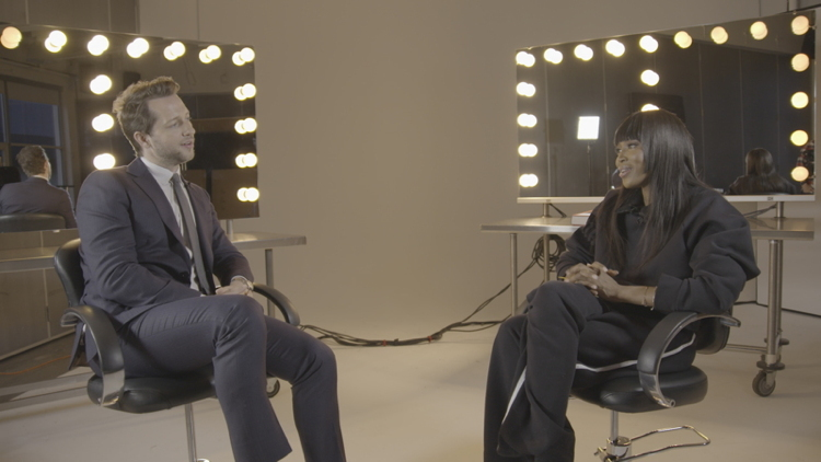Blasberg with Naomi Campbell