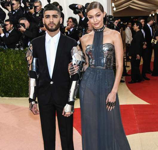 "Gigi Hadid  and Zayn Malik attend the ""Manus x Machina: Fashion In An Age Of Technology"" Costume Institute Gala at Metropolitan Museum of Art. Photo: (Larry Busacca/Getty Images)"