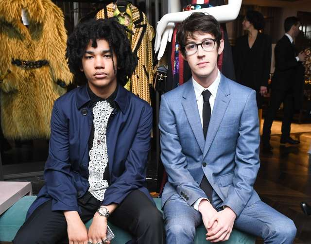 Luka Sabbat, Alex Sharp, wearing BURBERRY