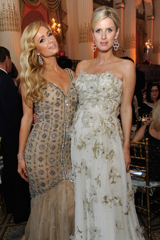 Paris Hilton and Nicky Rothschild. (Photo by Rabbani and Solimene Photography/Getty Images for FIT)