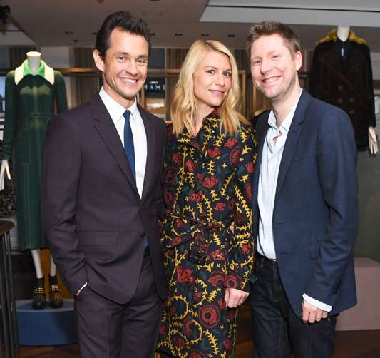 Hugh Dancy and Claire Danes, wearing Burberry; Christopher Bailey