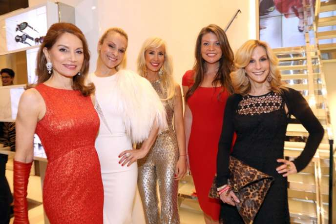 Jean Shafiroff, Consuelo Vanderbilt Costin, Tracy Stern, Nicole Noonan, Randi Schatz at the American Heart Association's Kick-Off Party at Michael Kors=©== ==