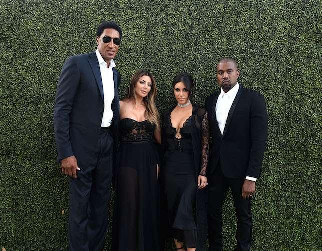 Scottie & Larsa Pippen, Kim Kardashian West & Kanye West