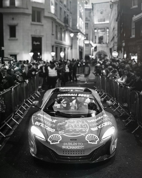 Photo via @gumball3000 About last night... Regent Street was full of fans and then @tapelondon was... Well you kinda had to be there. #GumballLife #Gumball3000 #DublintoBucharest Photo: @finnp.photography