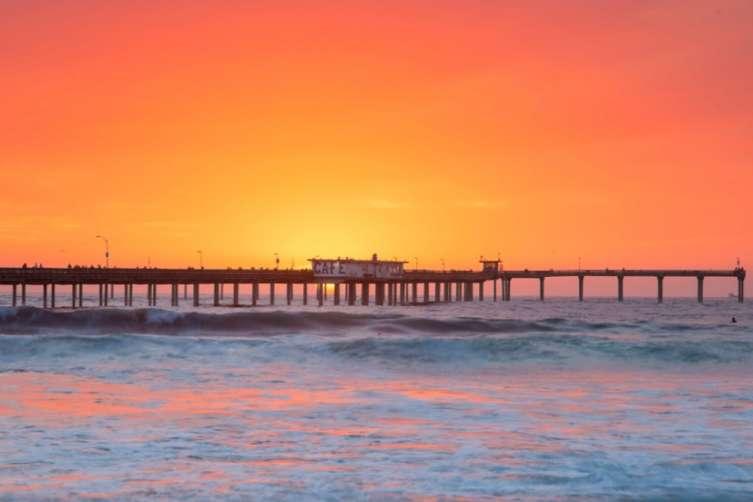 The Malibu pier at sunset