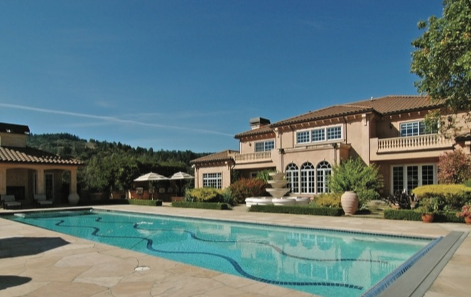 The Napa Valley vineyard estate
