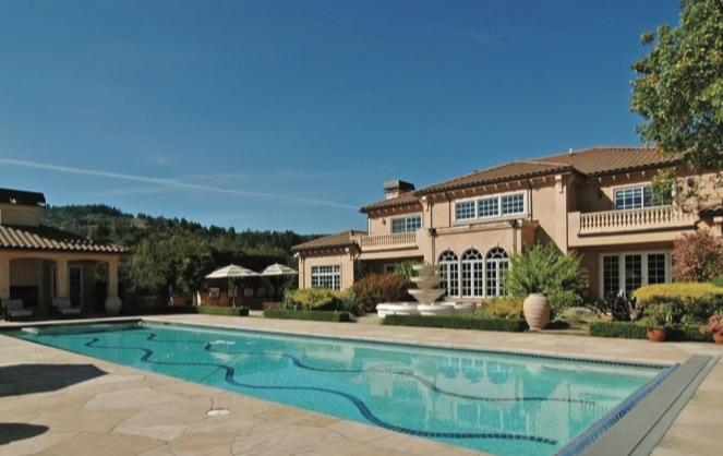 The Napa Valley vineyard estate