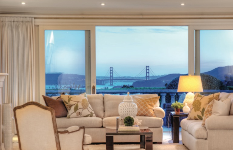 The Tiburon home with Golden gate Bridge views