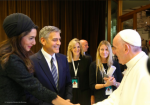 Haute 100: George Clooney, Richard Gere and Salma Hayek Honored by Pope Francis