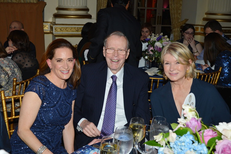 Debora Spar, Donald Marron, Martha Stewart==Barnard College 2016 Annual Gala honoring the Milsteins==The Plaza, New York==May 3, 2016==©Patrick McMullan==Photo - Patrick McMullan/PMC