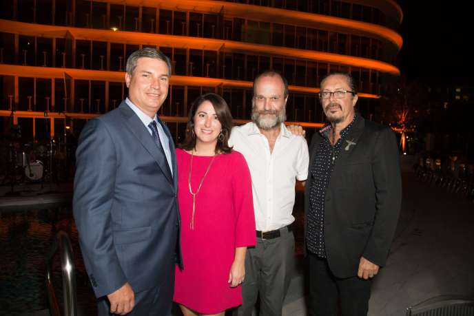 Patrick Campbell, Patricia Hanna, Pablo Siquier & Jose Bedia at the One Ocean Opening Dinner